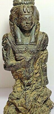 HUGE ANCIENT EGYPTIAN BLACK STONE STATUE KING OF PHARAOH 664-525 DYNASTY 270,1m