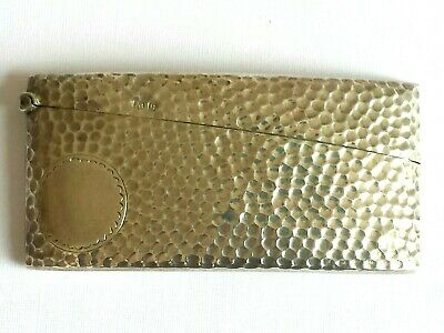 Antique Sterling silver Arts and Crafts card case. Birm.1902. (B346)