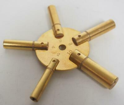 Clock Brass 5 Star Key Multi Clock Key For Clock Repairs Sizes 3-5-7-9-11