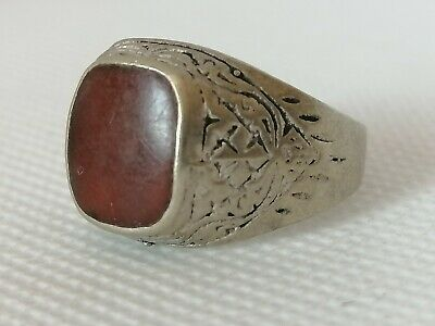 Extremely Rare Ancient Roman Ring Silver Color Beautiful Very Stunning