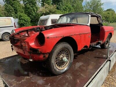 MGB Roadster, 1963 Pull Handle, Barn Find