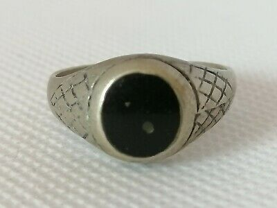 Extremely Rare Ancient Roman Ring Metal Silver Color Beautiful Amazing