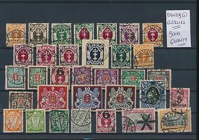 LL96796 Germany Danzig classic stamps fine lot used