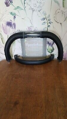 EGG stroller faux leather handle bar & bumper bar COVERS ONLY CURVED SHAPE black