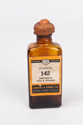 Johnson 142 prevents fog & stains circa years 40s