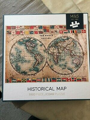 Marks & Spencer Jigsaw - 1000 Pieces Historical World Map