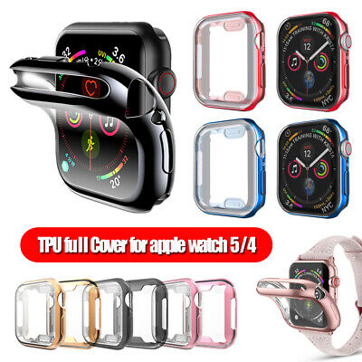 for Apple Watch 5 4 iWatch 40mm 44mm Screen Protectors Electroplate TPU Case