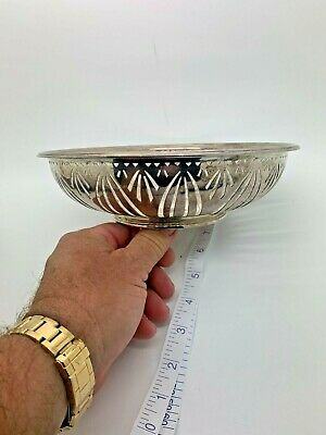 """TIFFANY  & co MAKERS bowl sterling silver FANCY RARE  VERY HEAVY 8.25"""" round"""