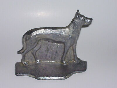 Vintage German Shepard Dog Door Stop / Book End