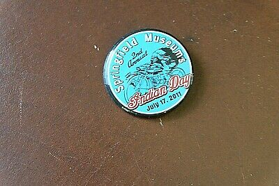 2011 Indian Motorcycle Museum Indian Day Button Pin NOS