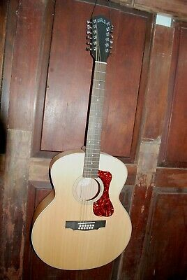 Guild F-2512E Maple Acoustic-Electric Solid Spruce Top 12-String Guitar
