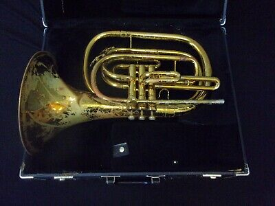 Quality! King 1122 U.s.a. Marching French Horn + King Case