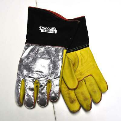Lincoln Electric K2982 Top Grain Cowhide/Aluminized Gloves XL USED