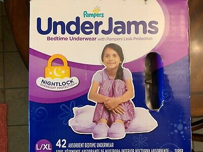 Pampers UnderJams Disposable Overnight Diapers, Size L/XL - 42 Count