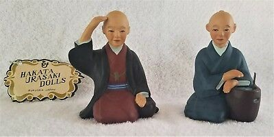 2 for 1 Antique Original Dolls/Figurines  Enjoying Renjyu  Hakata Urasaki -Japan