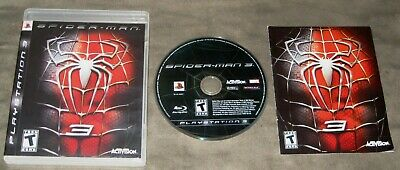 Spider-Man 3 (Sony PlayStation 3, 2007) Complete w/case, game cd and manual