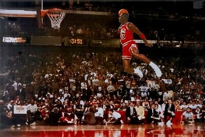 "Chicago Bulls - Michael Jordan - Dunk - NBA Poster ""36 X 24""- NEW"