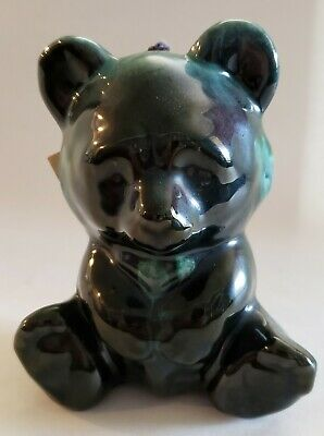 Vintage Blue Mountain Pottery Teddy Bear with Hang Tag