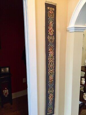 Vintage Needlepoint Bell Pull 60 Inches
