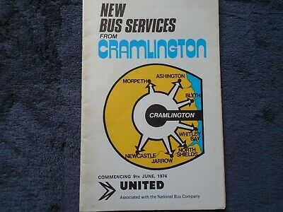 United Automobile Services booklet for new Cramlington services, 9th June 1974