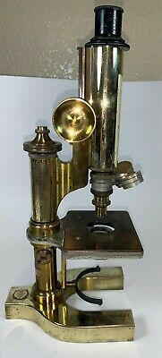 Antique Bausch and Lomb Microscope (Solid Brass)