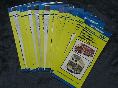 Seventeen South Midland leaflets various dates 1987