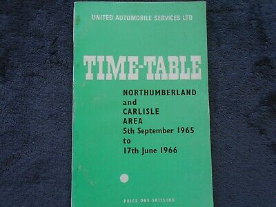 United Automobile timetable for Northumberland, Carlisle area, 5th Sept 1965