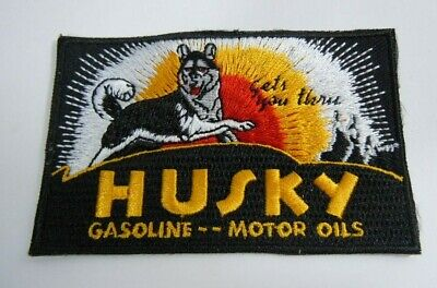 "HUSKY Gasoline -Motor Oils Embroidered Iron-On Uniform-Jacket Patch 3.5""x 2.25"""