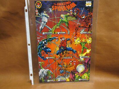 The Amazing Spider-Man 1st Edition 1994 9 Card Uncut Sheet Marvel Promo