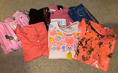 Girls Summer Clothes Bundle Age 6-7 Years  Ted Baker, H&M, Mark Spencer, Benetto