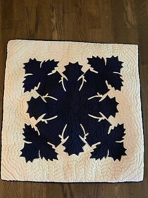 Hawaiian quilt handmade cushions hand quilted/appliqué pillow cover.