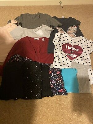bundle girls clothes leggings, Tops age 6-7 years, 12 Items