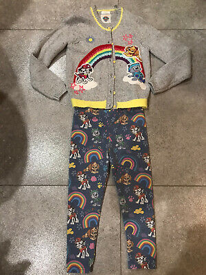 Girl Paw Patrol Rainbow 🌈 Bundle, Cardigan, Leggings Size 5-6 Next