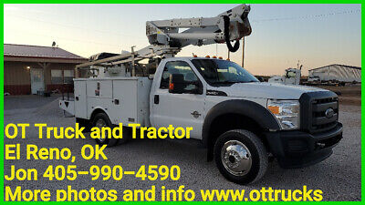 2012 Ford F-550 4wd 42ft Work Insulated Bucket Truck 6.7L Diesel Altec AT37G