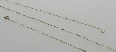 """18.5"""" 10k Yellow GOLD 0.75 mm Light DAINTY Chain Necklace- GORGEOUS- NO RESERVE!"""
