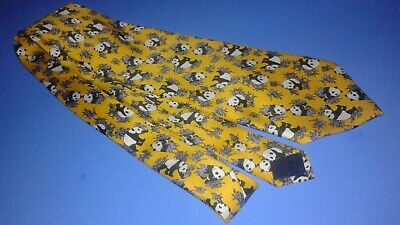 Panda Bear Colorful Adult Neck Tie