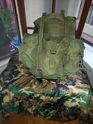 Genuine Us Military Issue Lc2 Med Alice Pack W/ Frame, Shoulder, Lumbar Straps!