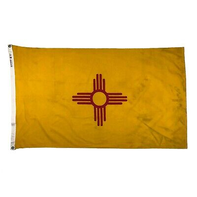 Vintage Cotton New Mexico State Flag USA America Cloth Sewn Old Southwest Banner