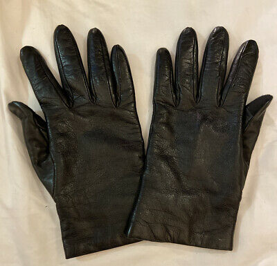 Portolano Cashmere Lined Leather Gloves ($135 Retail)
