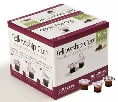 Communion Set - Prefilled Fellowship Cup Juice Wafer-100 Sets Lords Supper READ