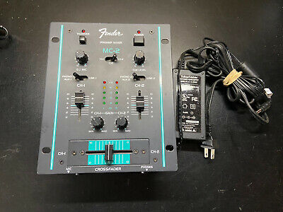 Fender MC-2 2 Channel DJ Mixer Crossfader **FAST SHIPPING**