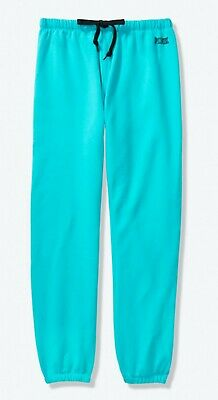 NWT XL Victorias Secret PINK CLASSIC PANT TURQUOISE LOW KEY LOGO EVERYDAY LOUNGE
