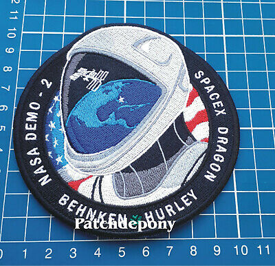 NASA SpaceX Crew Dragon DM-2 Launch Hurley Behken Mission To Space sew on Patch