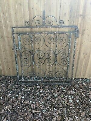 Reclaimed Wrought Iron Gate H: 101cm (126cm including decorative top) W: 100cm
