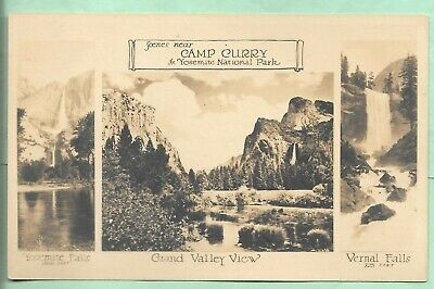 Rppc. Scenes Near Camp Curry. Yosemite National Park,  California.