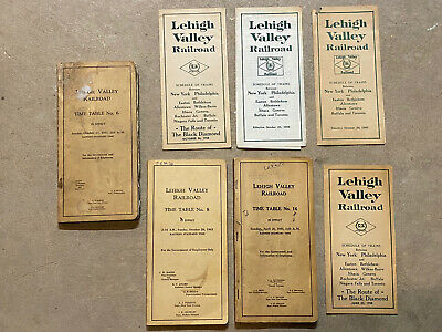 Lehigh Valley Railroad Timetables