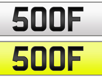 Cherished Number: Registration Plate '500F' Great 4 Digits Mark. Good Investment