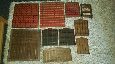 Joblot/Collection Of 10 Wooden Various Sized Thimble Displays