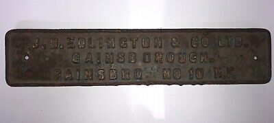 Cast Iron Plate Sign