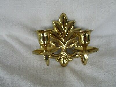 VINTAGE~~Single  Solid Brass Wall Sconce 2 Candle Holder ~~QUALITY ITEM!!